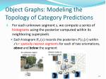 object graphs modeling the topology of category predictions2