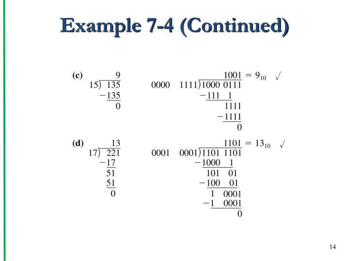 Example 7-4 (Continued)