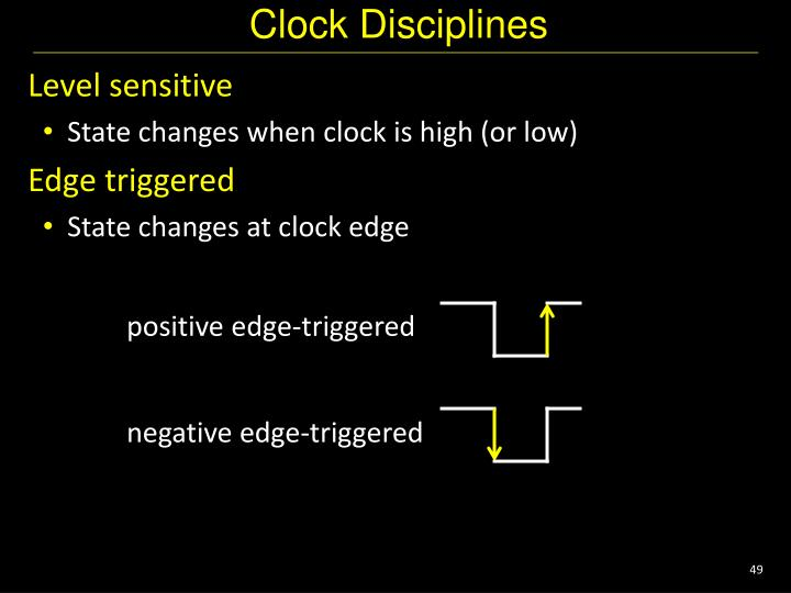 Clock Disciplines