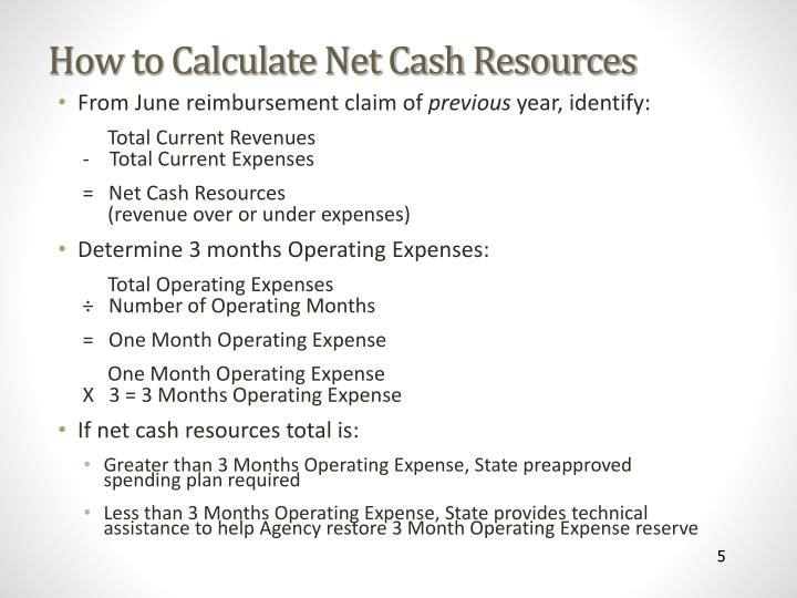 How to Calculate Net Cash Resources