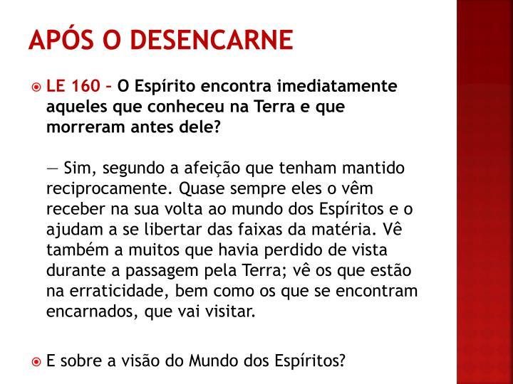 APÓS O DESENCARNE
