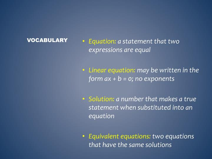 Equation: