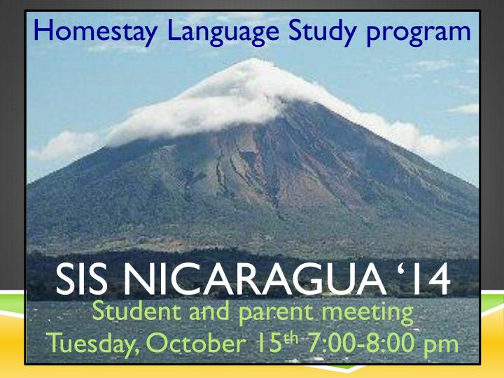 Homestay Language Study program