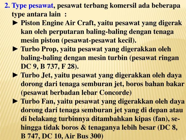 2. Type pesawat