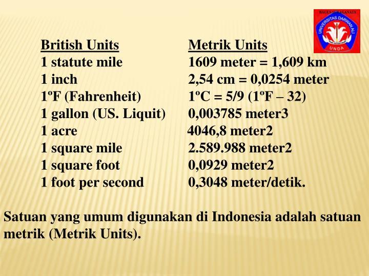 British Units