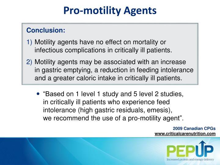 Pro-motility Agents