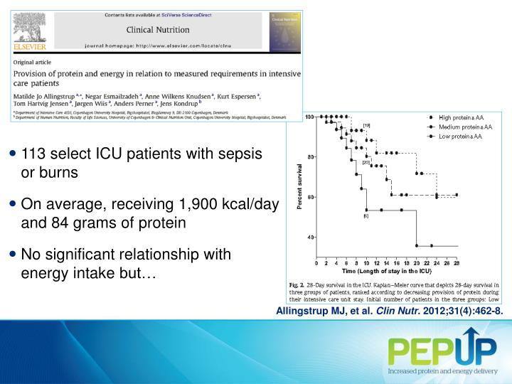 113 select ICU patients