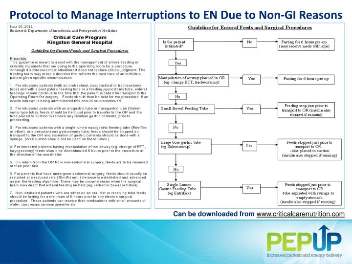 Protocol to Manage Interruptions to