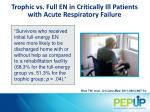 trophic vs full en in critically ill patients with a cute r espiratory failure