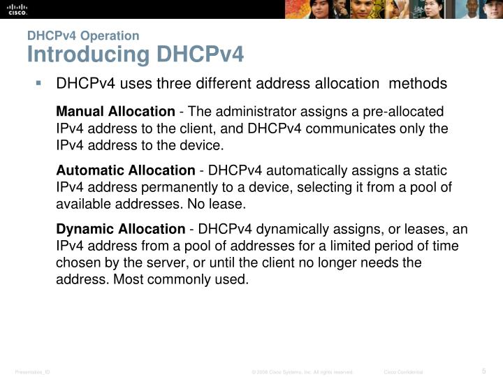 DHCPv4 Operation