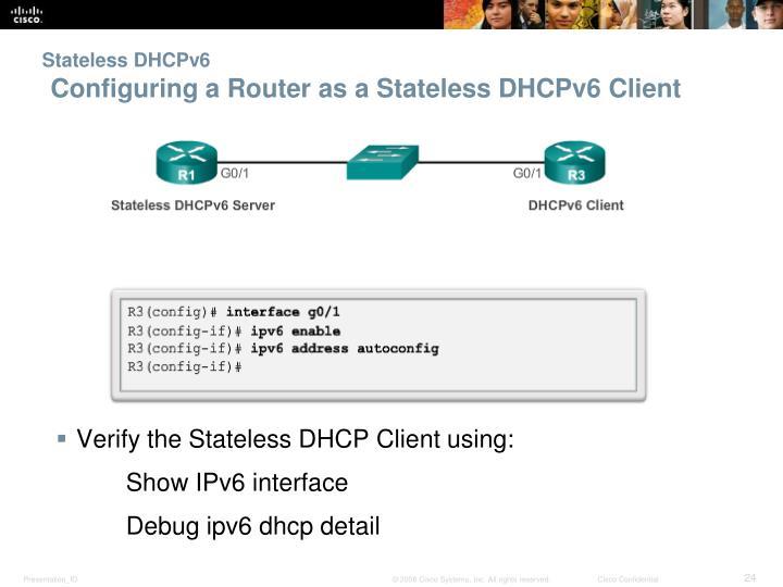 Stateless DHCPv6