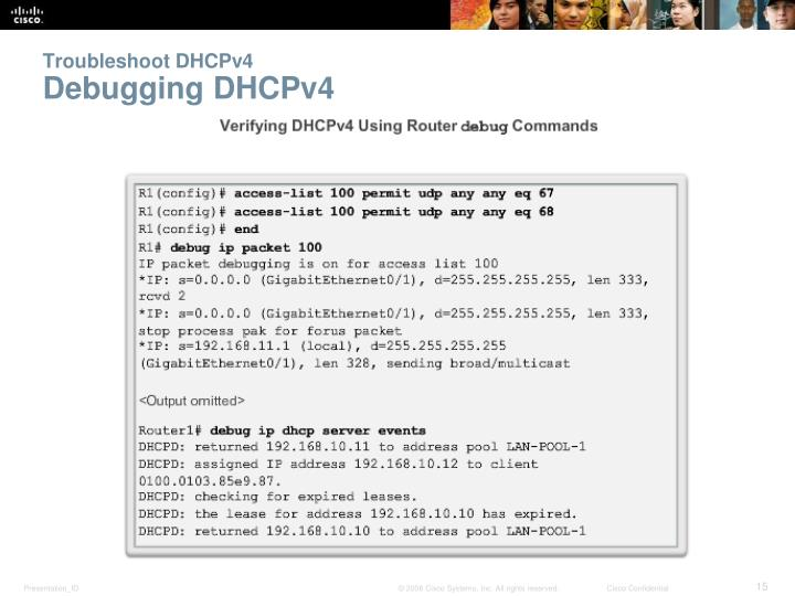 Troubleshoot DHCPv4
