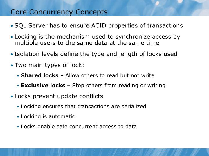 Core Concurrency Concepts