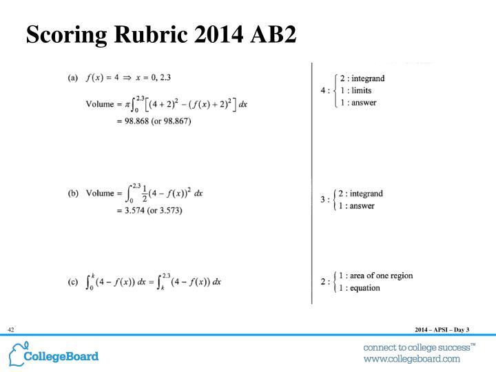 Scoring Rubric 2014 AB2