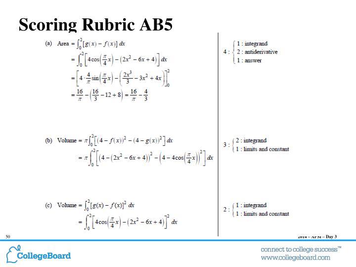 Scoring Rubric AB5