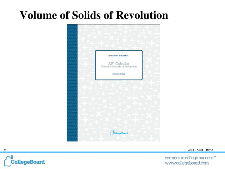 Volume of Solids of Revolution