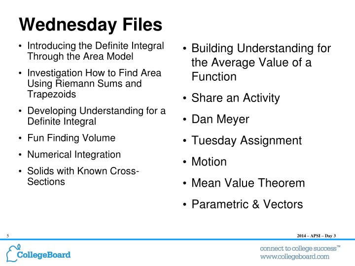 Wednesday Files