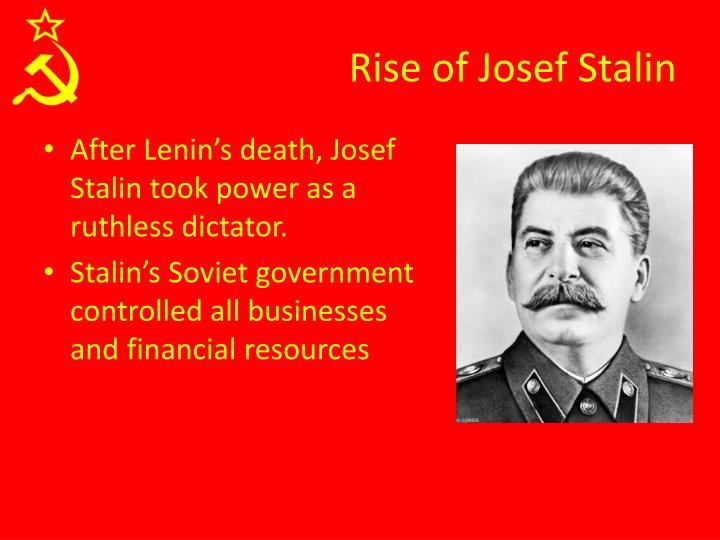 Rise of Josef Stalin