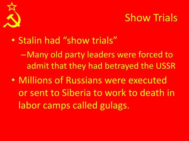 Show Trials