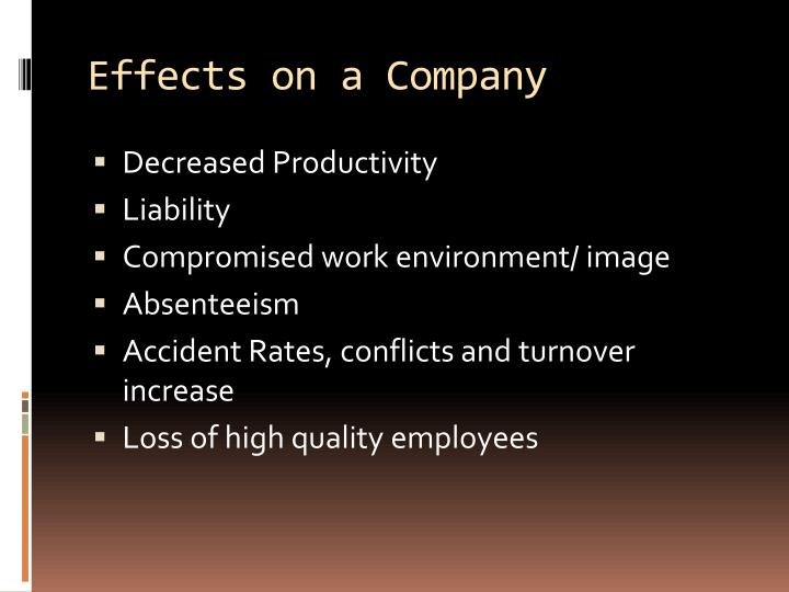 Effects on a Company