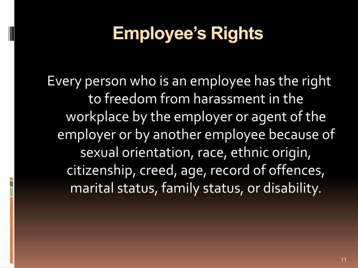 Employee's Rights