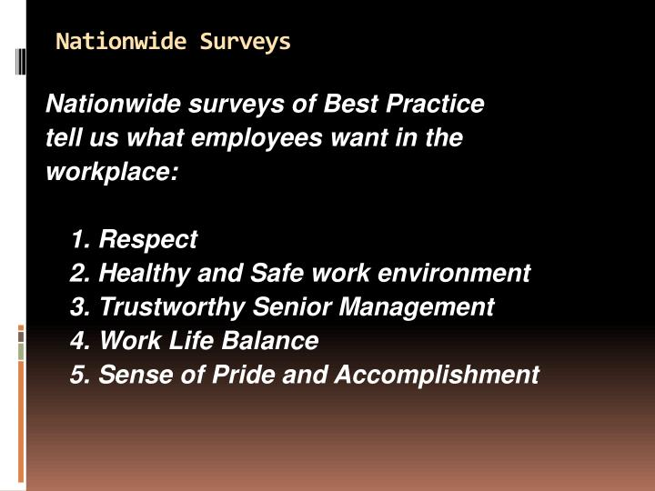 Nationwide Surveys