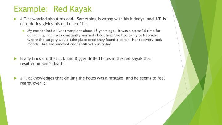 Example:  Red Kayak