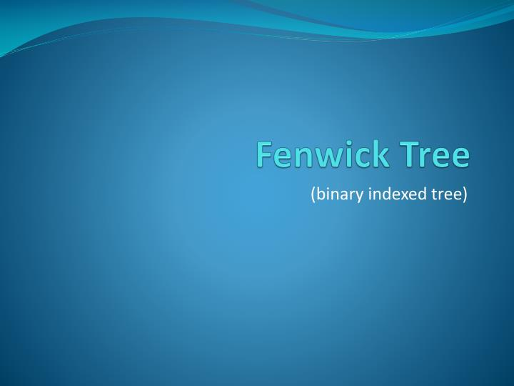 Fenwick tree