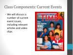 class components current events