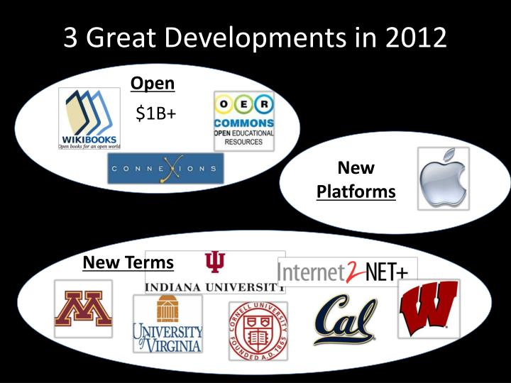 3 Great Developments in 2012