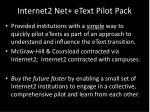 internet2 net etext pilot pack