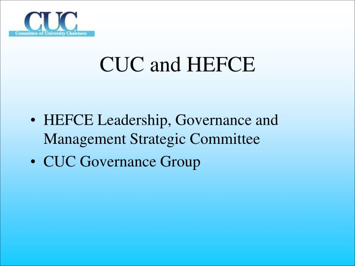 CUC and HEFCE