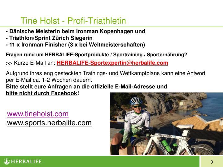 Tine Holst - Profi-Triathletin