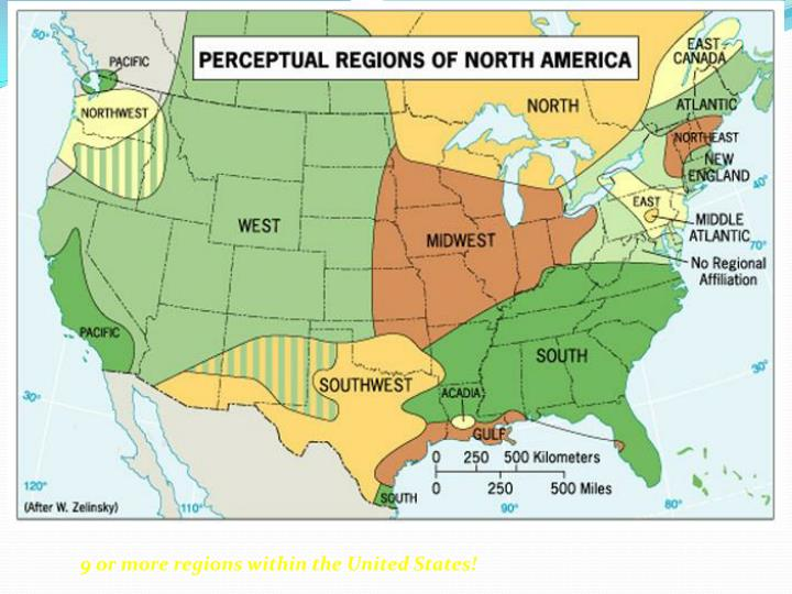 9 or more regions within the United States!