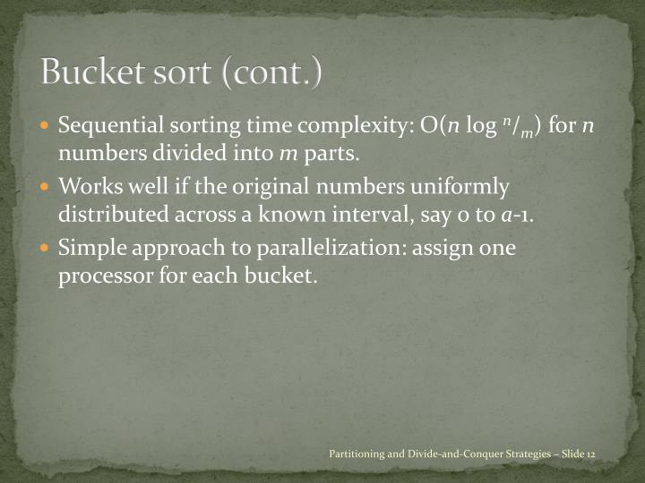 Bucket sort (cont.)