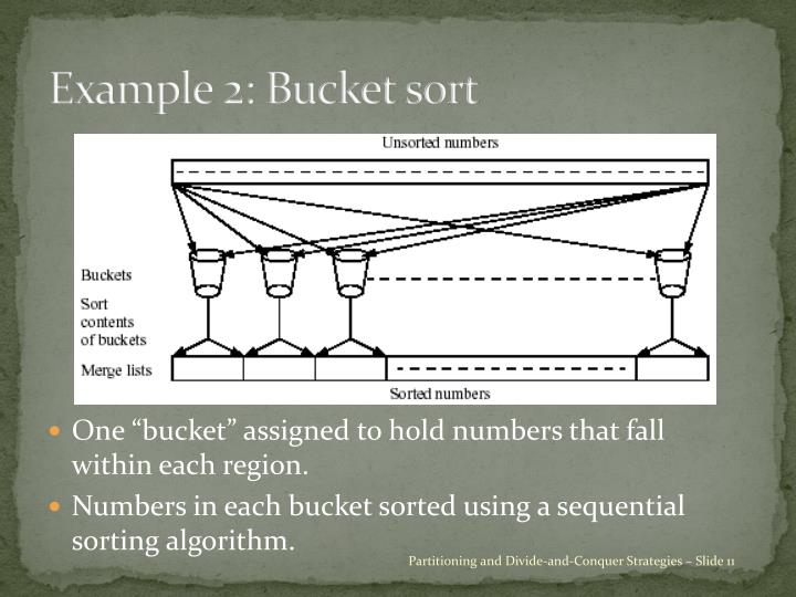 Example 2: Bucket sort