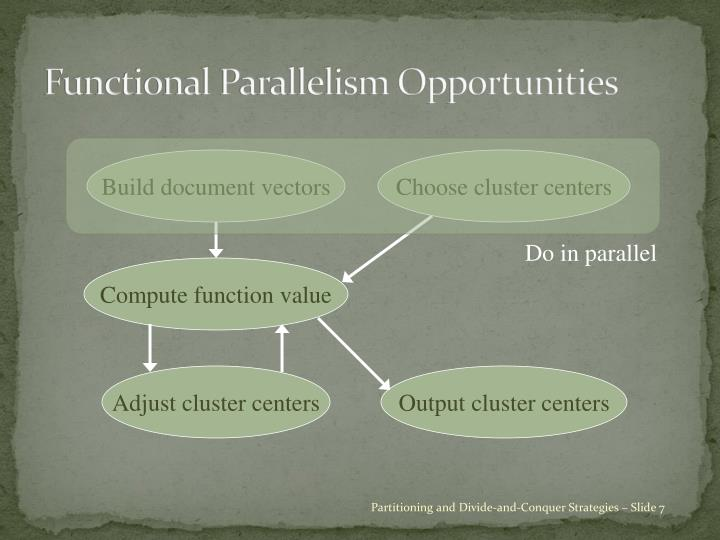 Functional Parallelism Opportunities