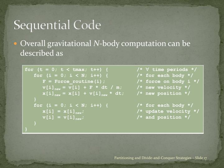 Sequential Code