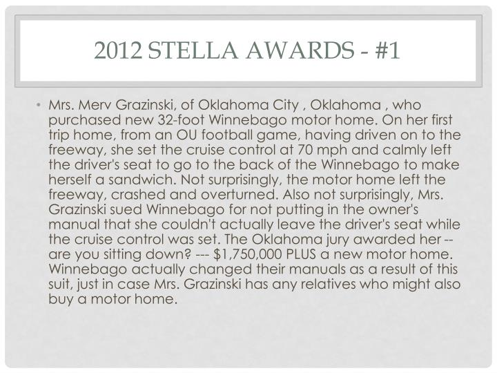 2012 Stella Awards - #1