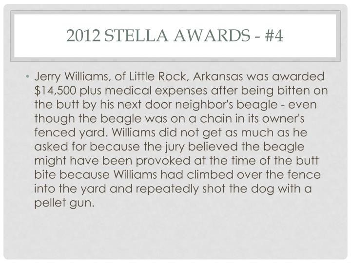 2012 Stella Awards - #4