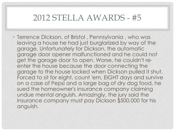 2012 Stella Awards - #5