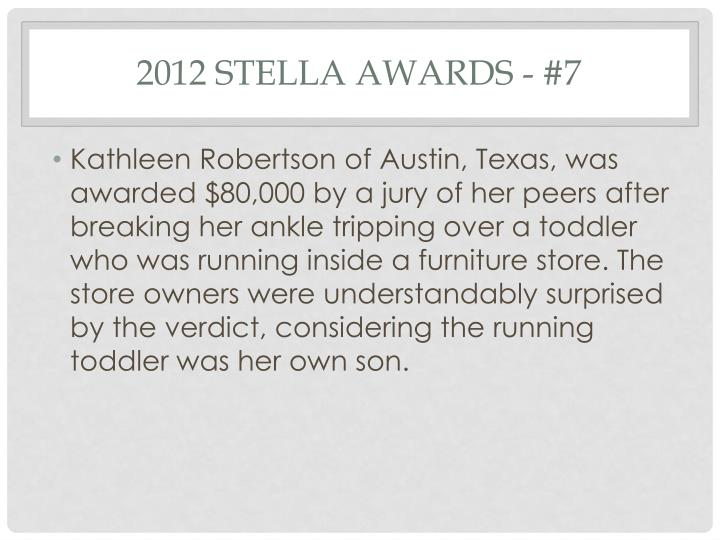 2012 Stella Awards - #7