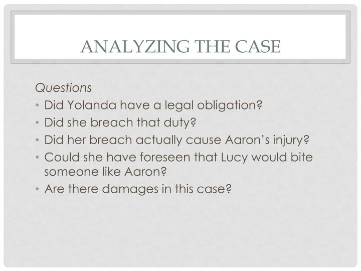 Analyzing the Case