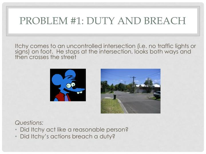 Problem #1: Duty and Breach