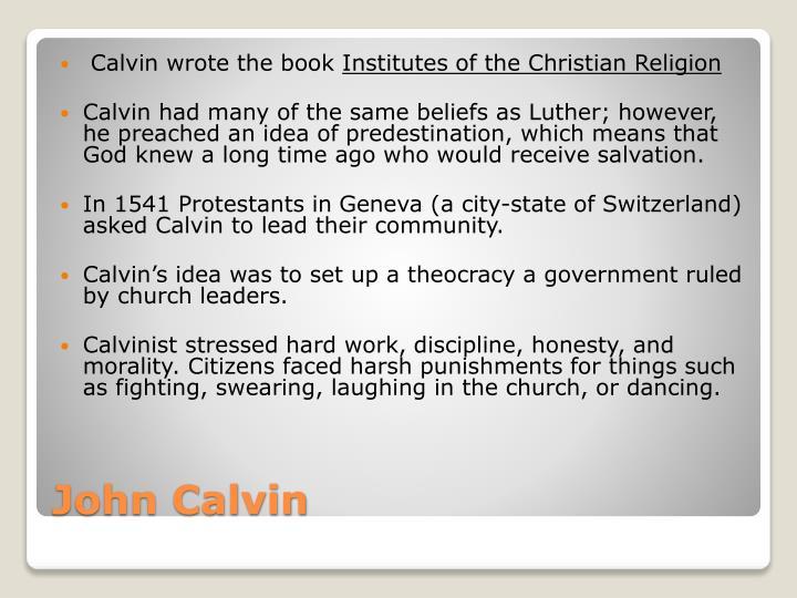 Calvin wrote the book