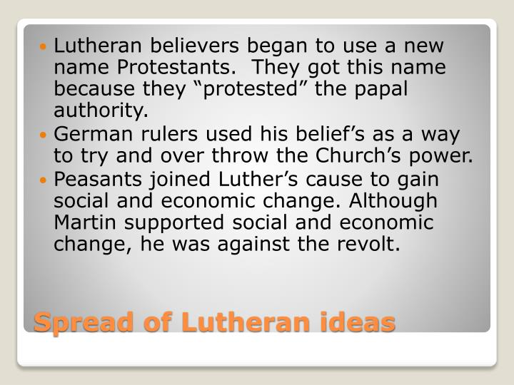 Lutheran believers began to use a new name