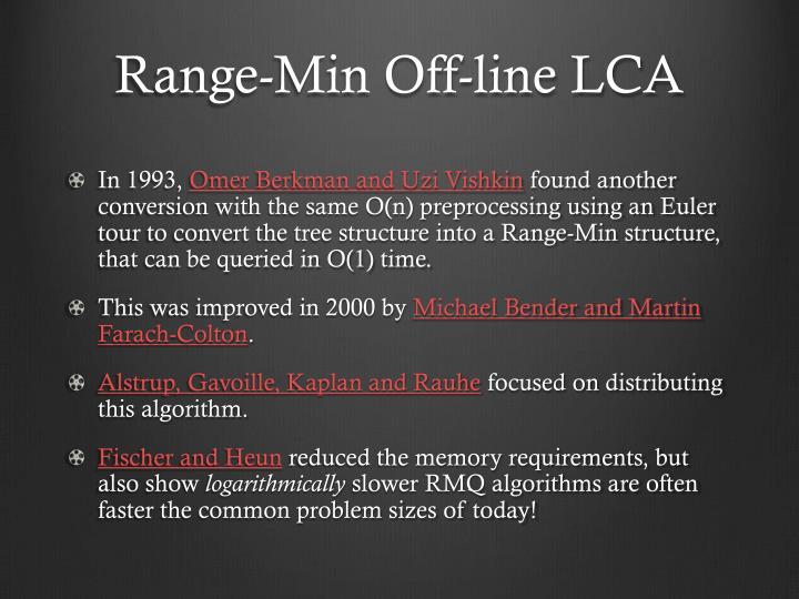 Range-Min Off-line LCA