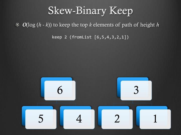 Skew-Binary Keep