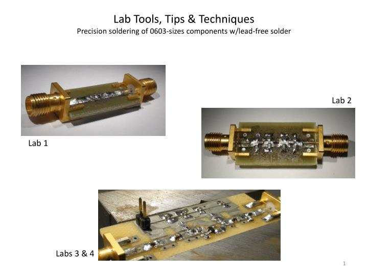 Lab Tools, Tips & Techniques