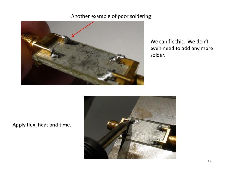 Another example of poor soldering